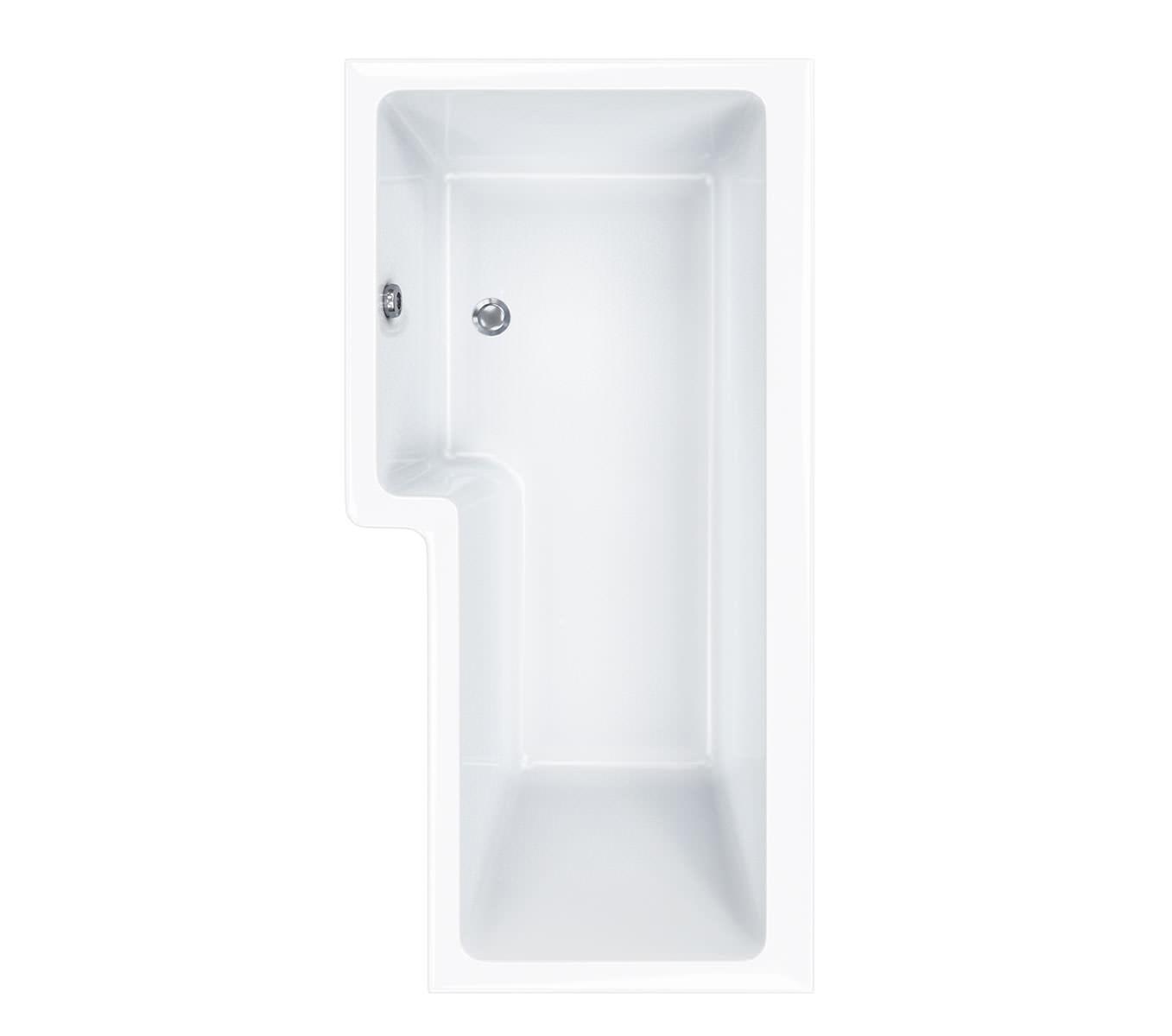 carron quantum square 5mm acrylic rh shower bath 1600 x