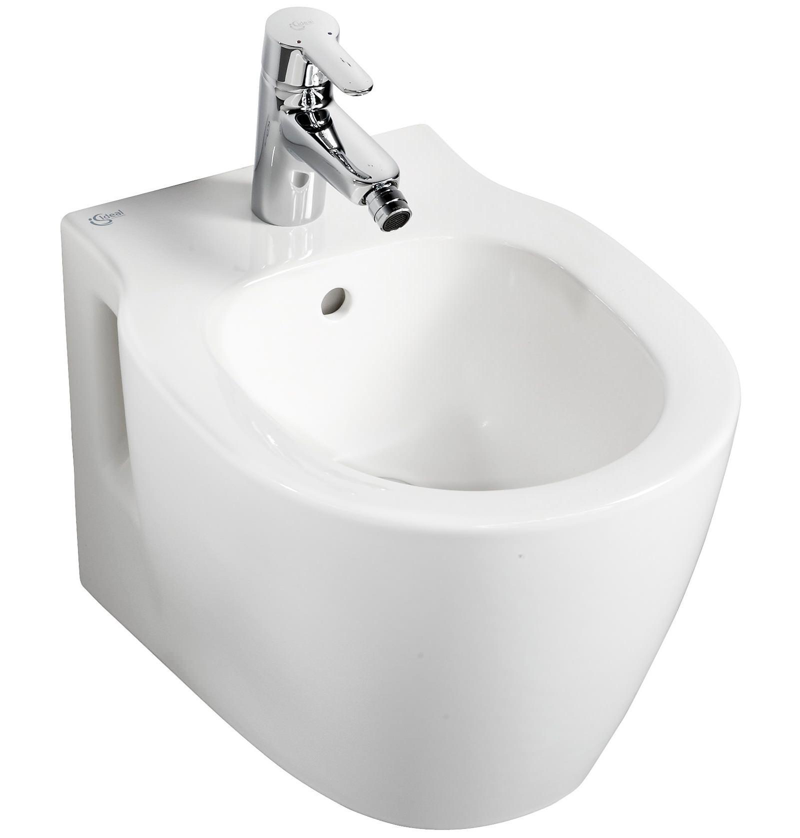 Ideal standard concept space compact 1 taphole bidet 480mm for Bidet ideal standard