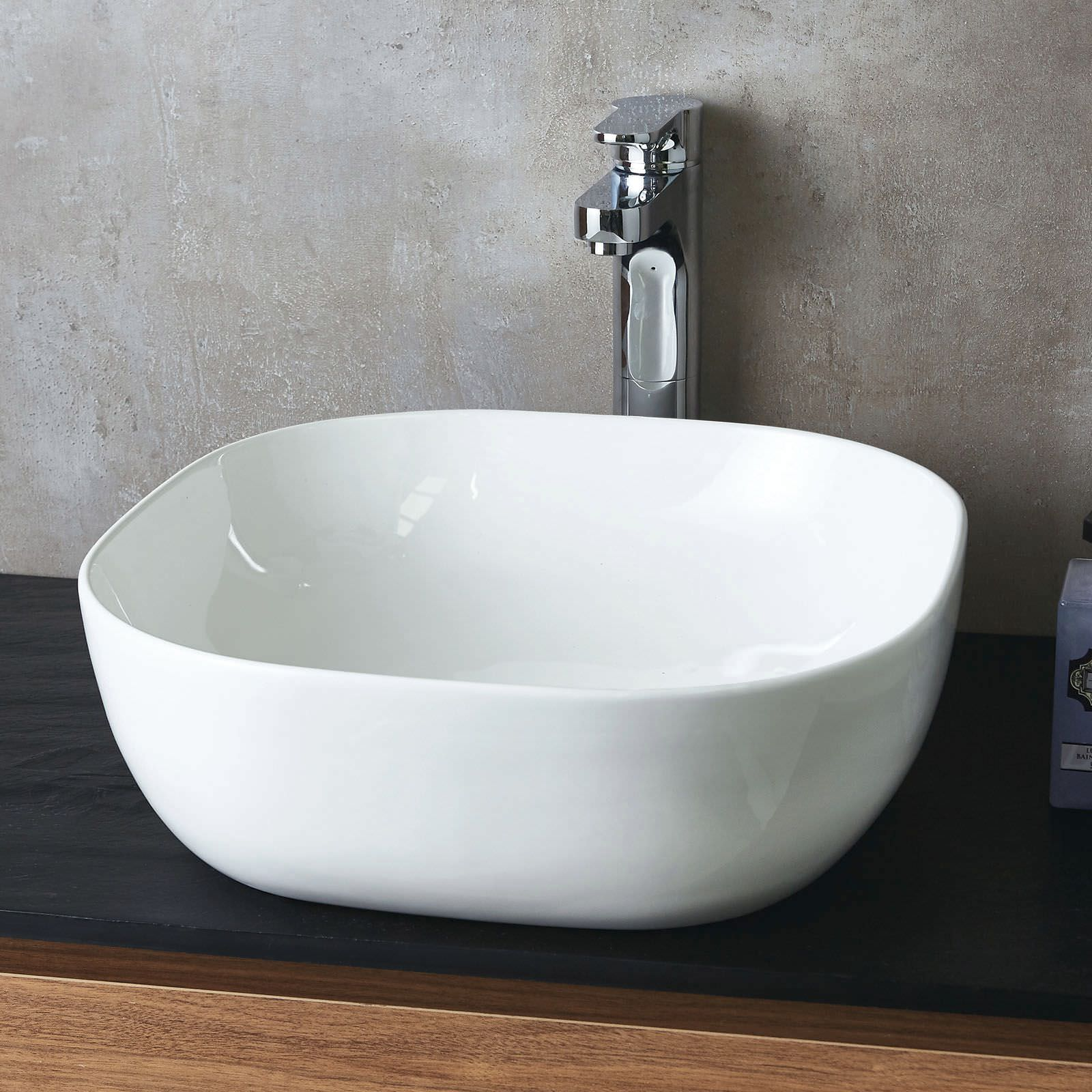 Flat Pack Kitchens >> Phoenix 430mm Square Counter Top Ceramic Basin - VB036