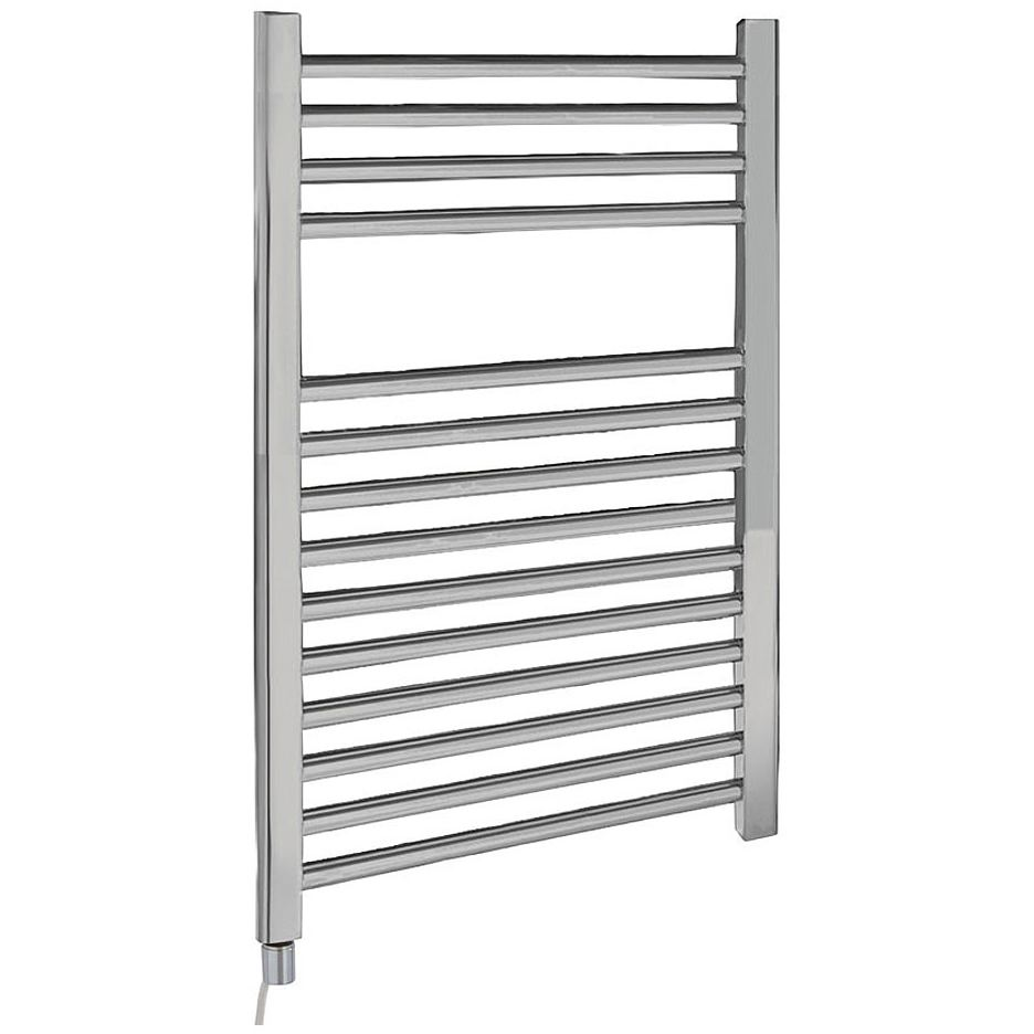 Kudox Electric Towel Rail 400mm X 700mm Chrome: Lauren Electric Only 500 X 700mm Heated Ladder Chrome