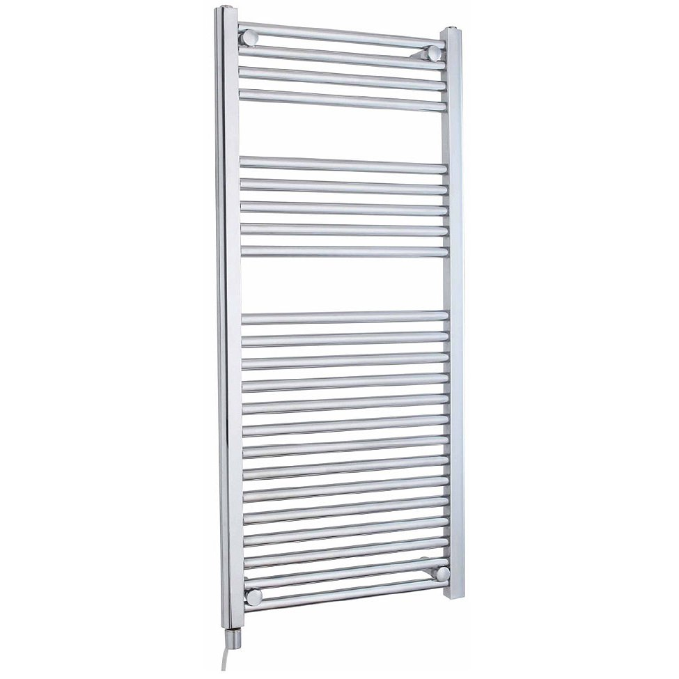 Ladder Heated Towel Rails: Lauren Electric Only 500 X 1100mm Heated Ladder Chrome