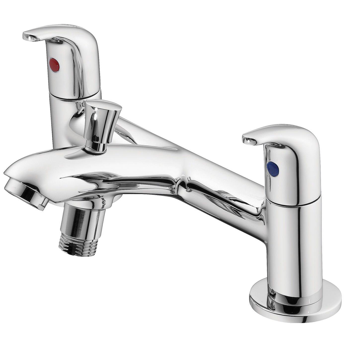ideal standard opus chrome 2 hole bath shower mixer tap