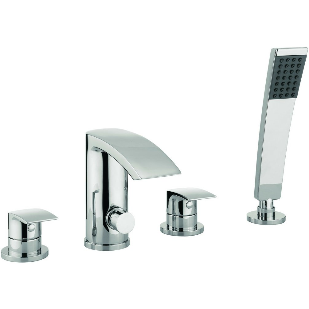Lauren Cone 4 Hole Deck Mounted Bath Shower Mixer Tap Set