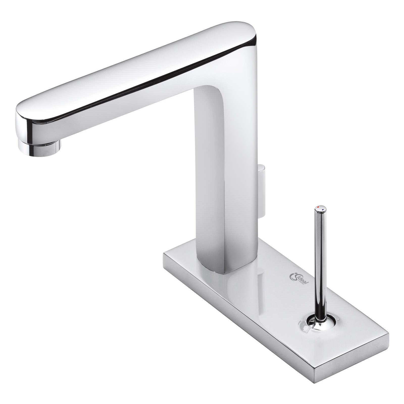 ideal standard simplyu 2 hole rectangular spout basin mixer tap. Black Bedroom Furniture Sets. Home Design Ideas