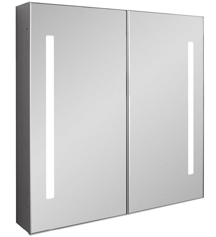 Bauhaus allure double door mirror cabinet 700 x 700mm for Bathroom cabinet 700