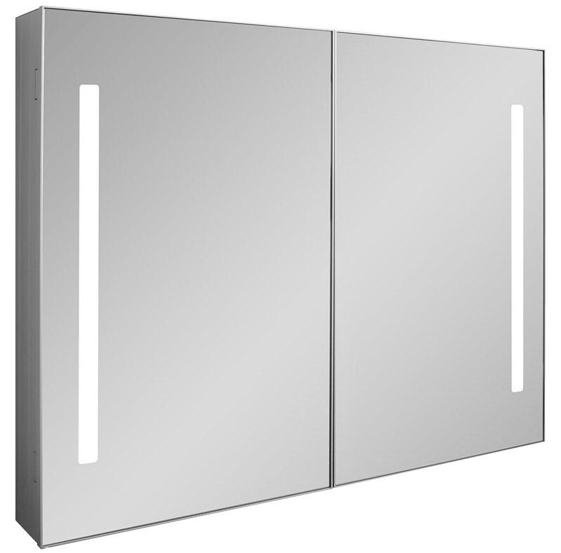 Bauhaus allure double door mirror cabinet 900 x 700mm for Mirrored cabinet doors