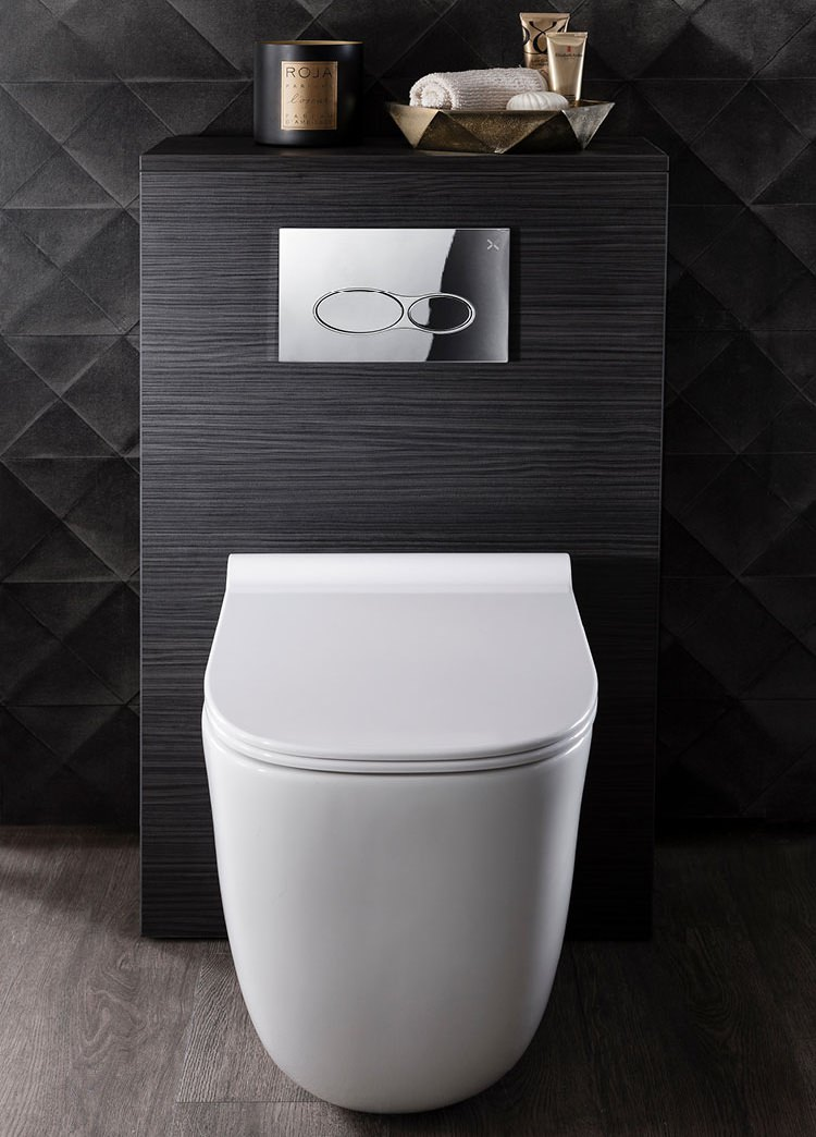 Bauhaus Wild Rimless Back To Wall Wc With Soft Close Seat