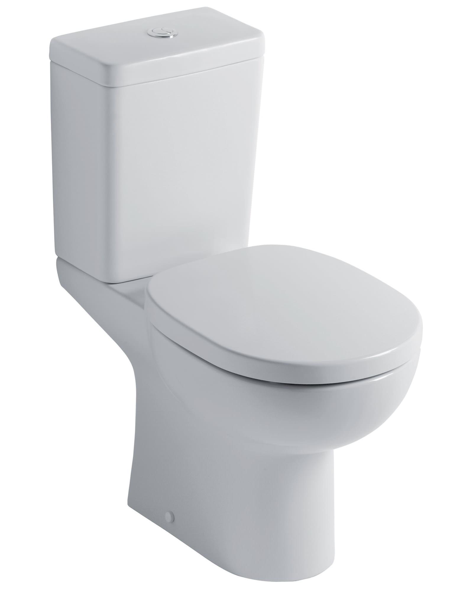 Ideal standard studio close coupled wc with cube cistern 665mm for Lunette wc ideal standard