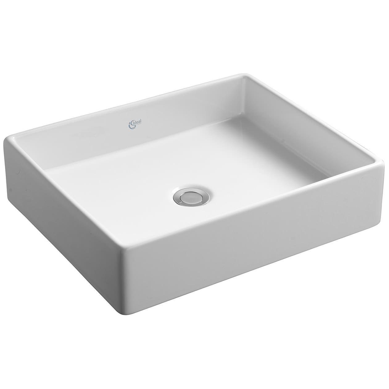 ... top basins ideal standard strada 500mm vessel basin no tap hole