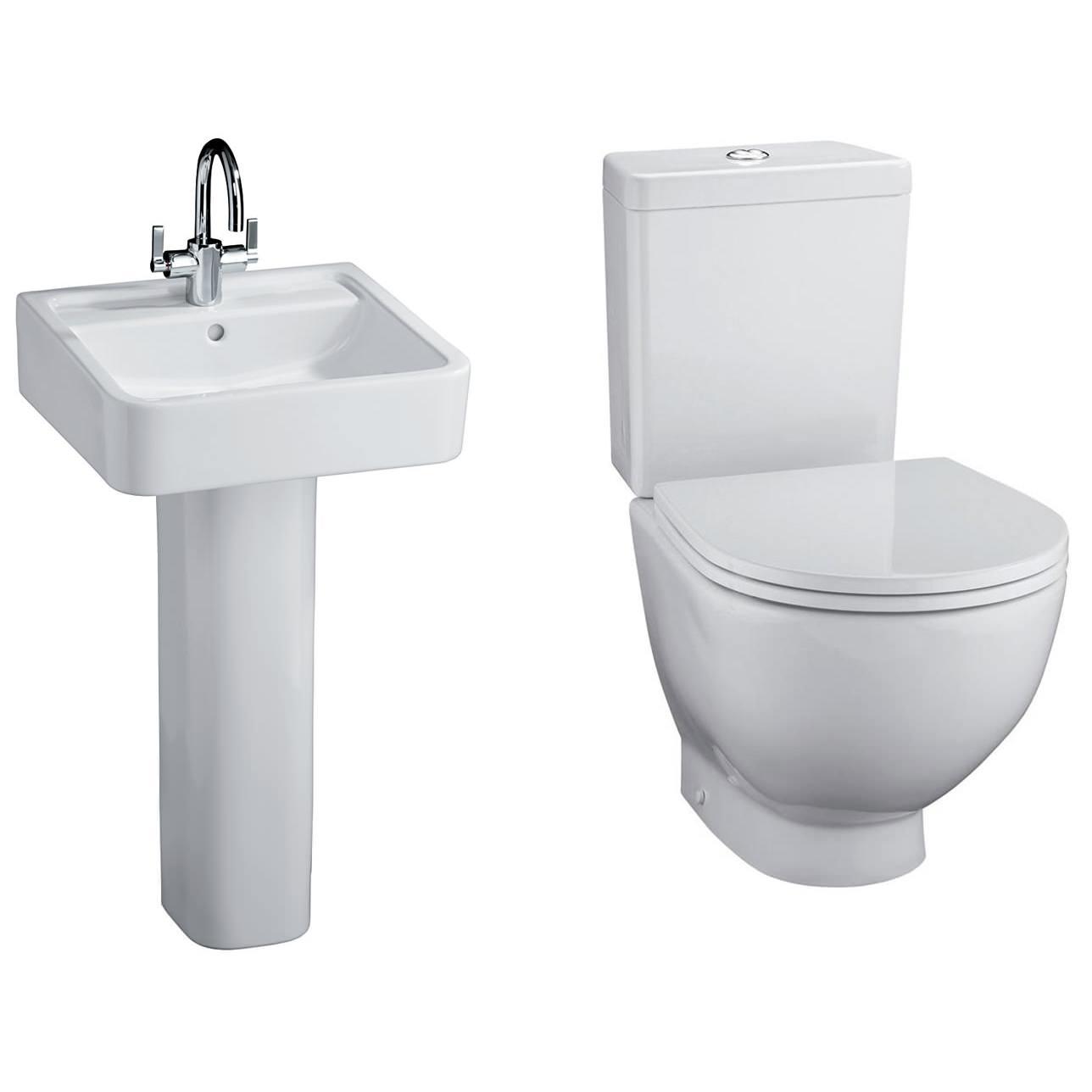 ideal standard white toilet and basin set. Black Bedroom Furniture Sets. Home Design Ideas