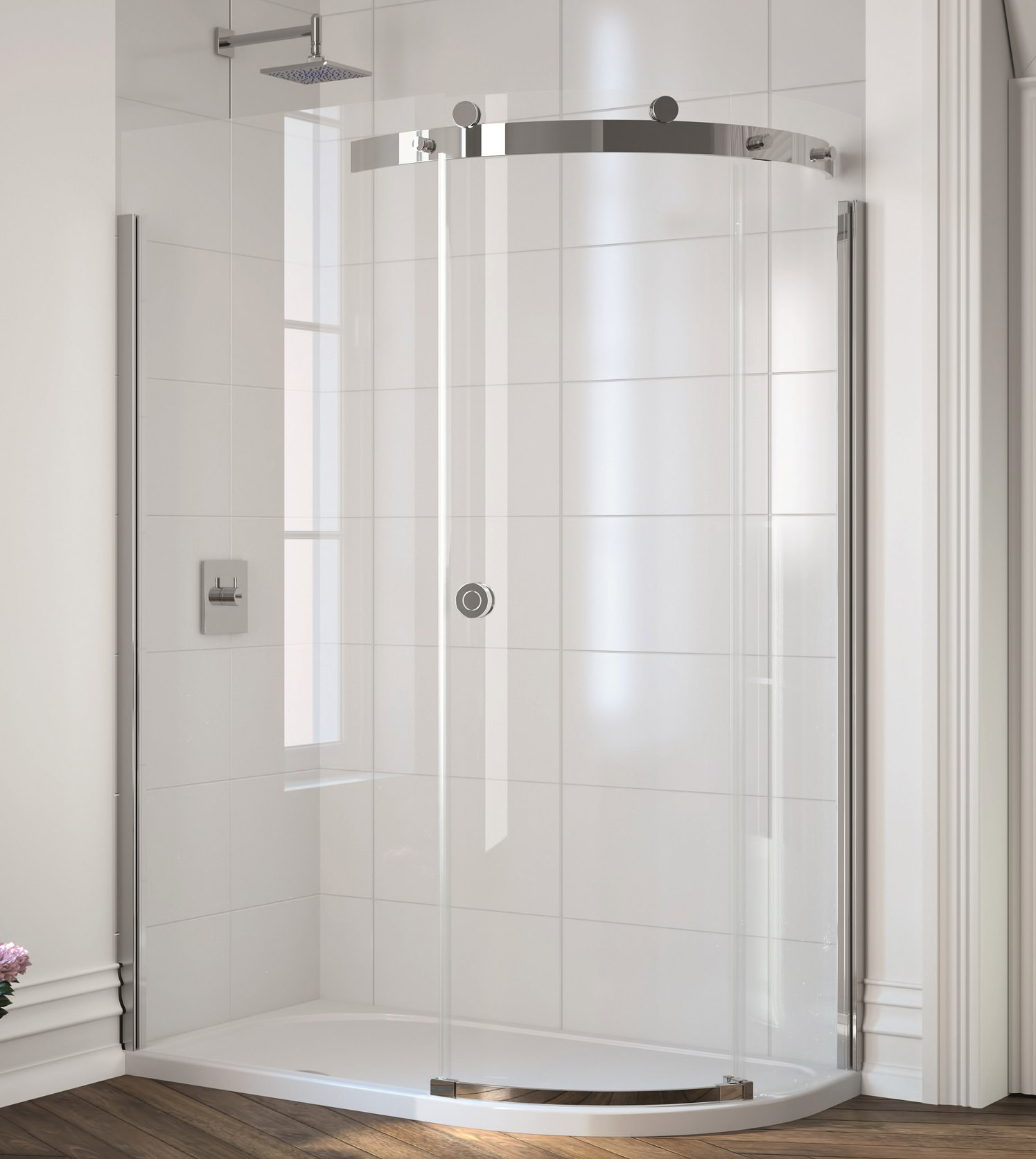 Merlyn 10 Series 1 Door Offset Quadrant Enclosure 1400 X