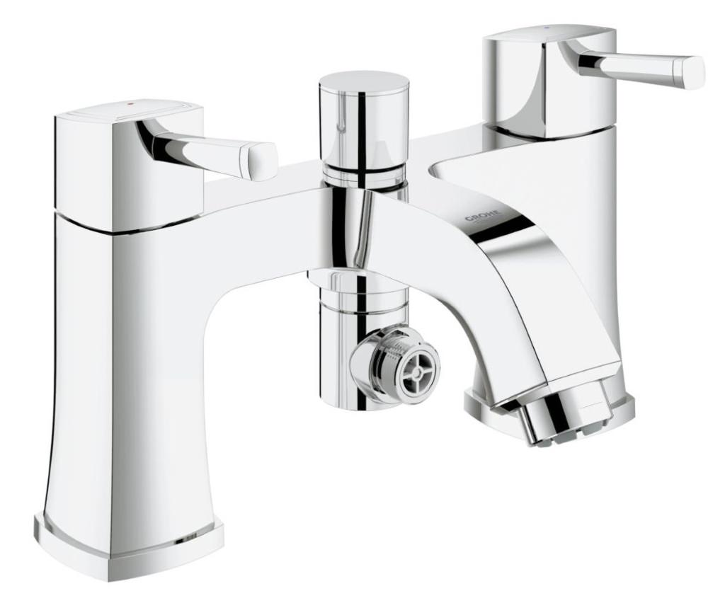 grohe spa grandera two handled bath shower mixer tap. Black Bedroom Furniture Sets. Home Design Ideas