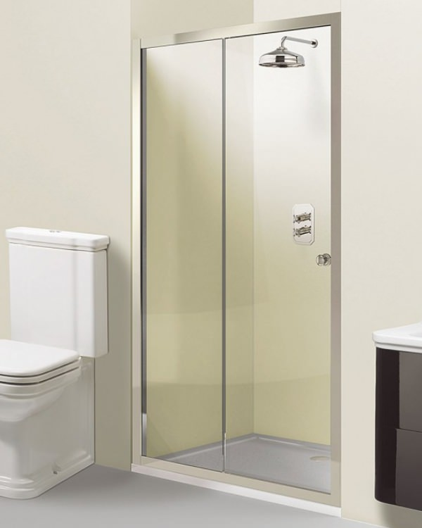 Simpsons arcade single slider shower door 1400 x 1950mm for 1400 shower door