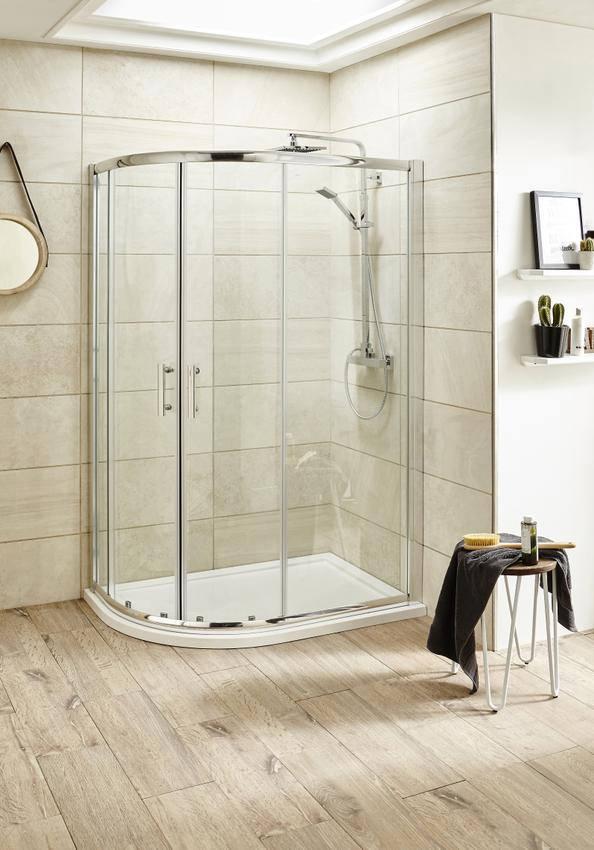 Premier Pacific 900 X 760mm Offset Quadrant Shower