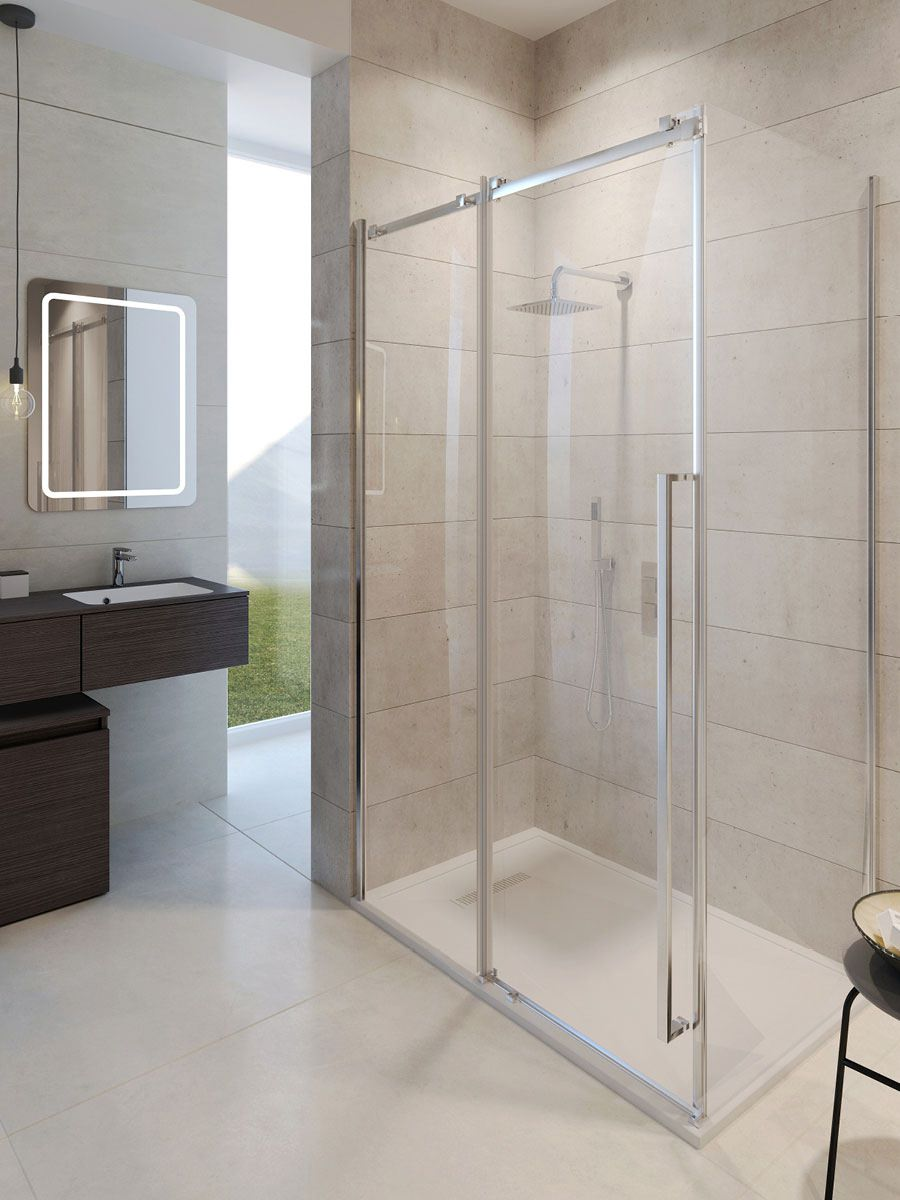 Simpsons pier single slider shower door 1400 x 2000mm for 1400 shower door