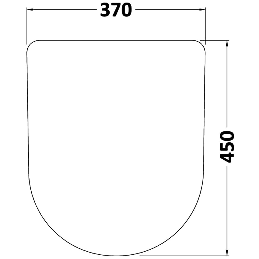 Toilet Seat And Cover Technical Drawing QS V26450 NTS007