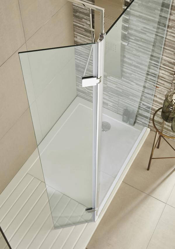 Lauren 322 X 1850mm Wetroom Hinged Return Screen Wrs030h