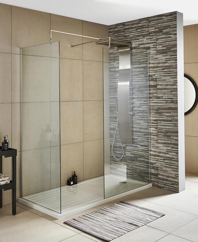 Premier Wetroom Walk In 800 X 1850mm Shower Panel With