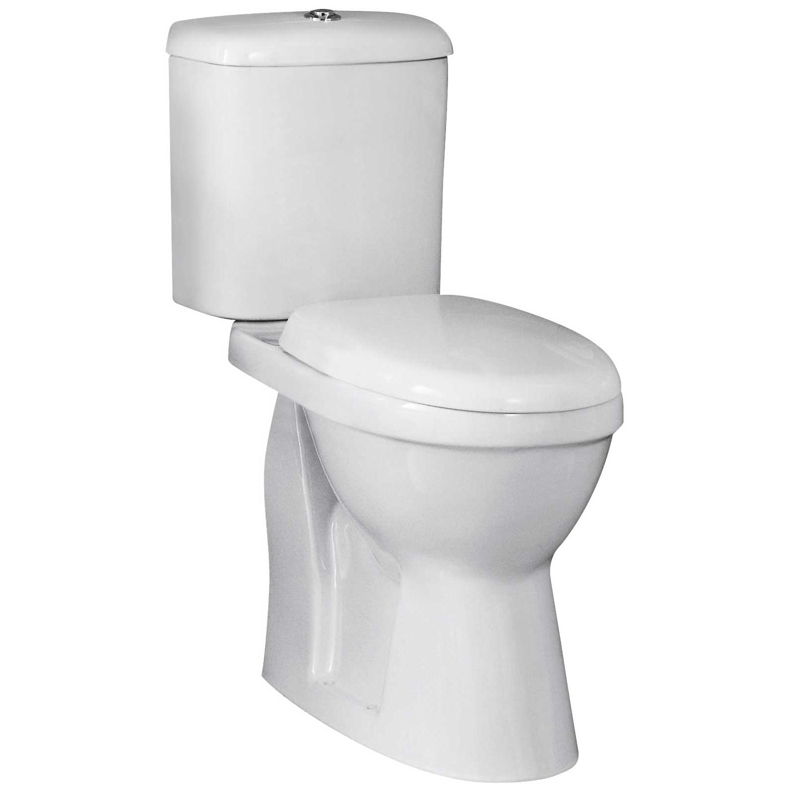 Lauren Ivo Close Coupled Comfort Height 480mm Wc Pan And Cistern Set Ncs500