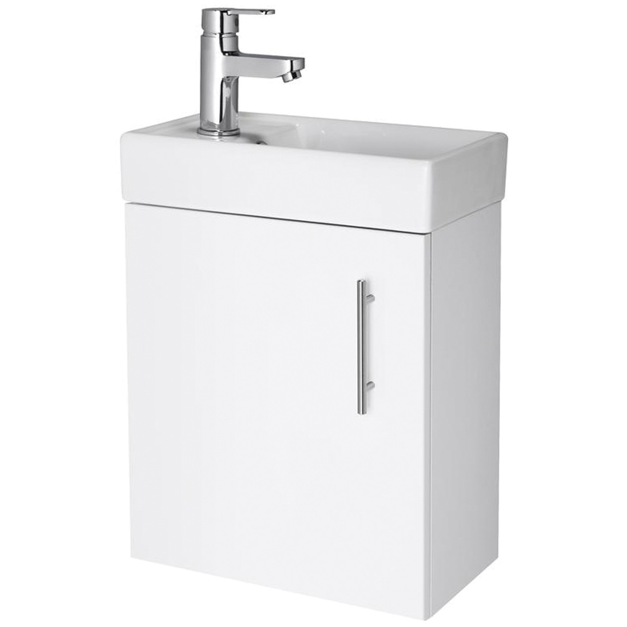 Minimalist Bathroom Wall Decor: Lauren Minimalist 400mm White Wall Hung Cabinet And Basin