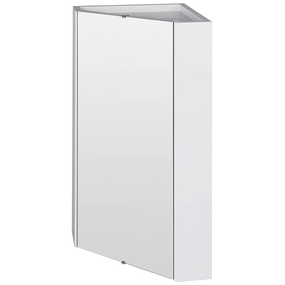 Nuie Premier Mayford High Gloss White 459mm Corner Mirror Cabinet Nvc118