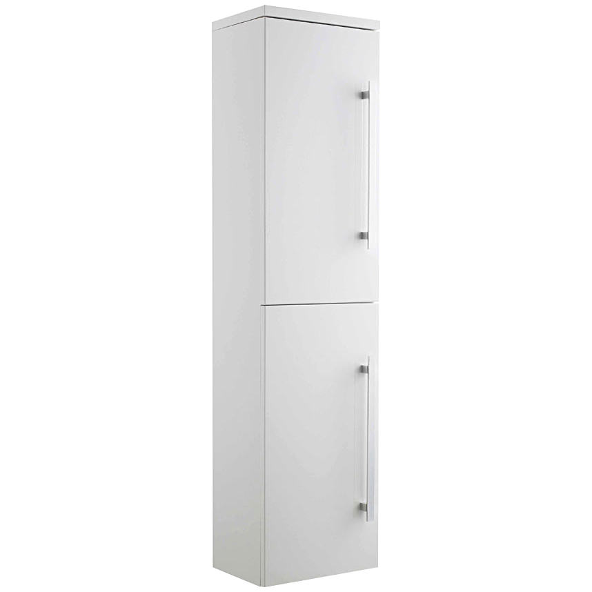 Lauren design gloss white 350 x 1400mm wall hung tallboy for White gloss tall kitchen units