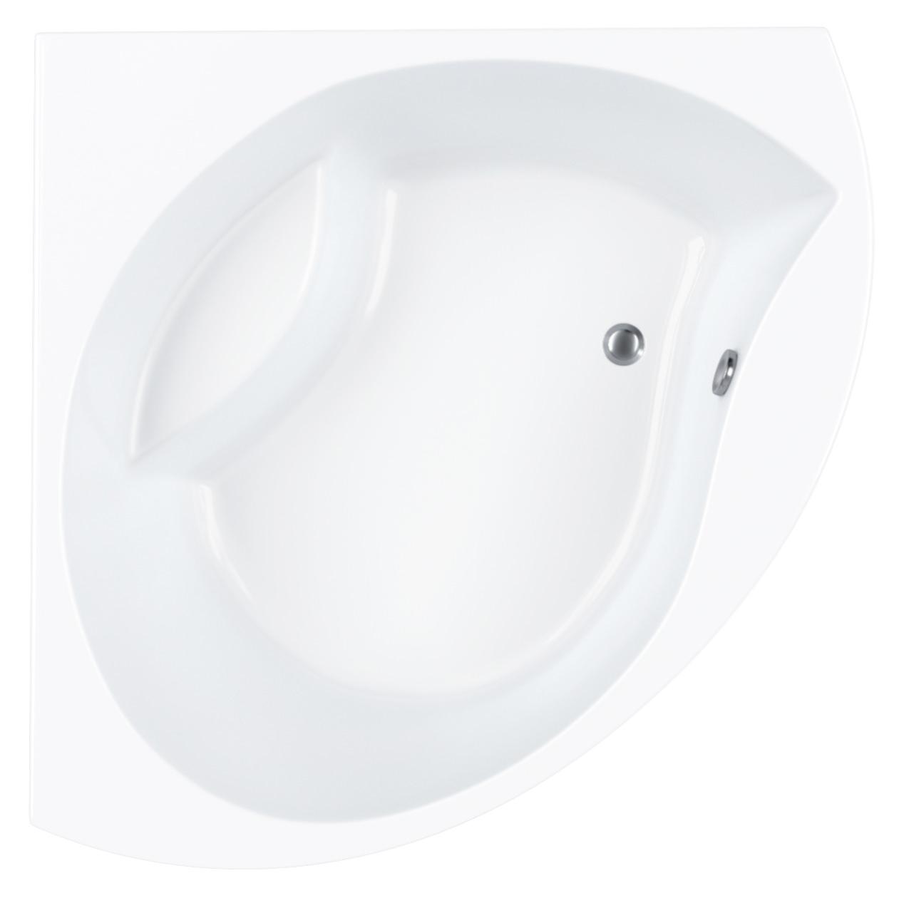 Carron tranquility 5mm acrylic corner bath 1300 x 1300mm for Small baths 1300