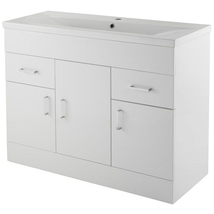 Lauren eden 1000mm 3 door and 2 drawer floor standing for 1000mm door
