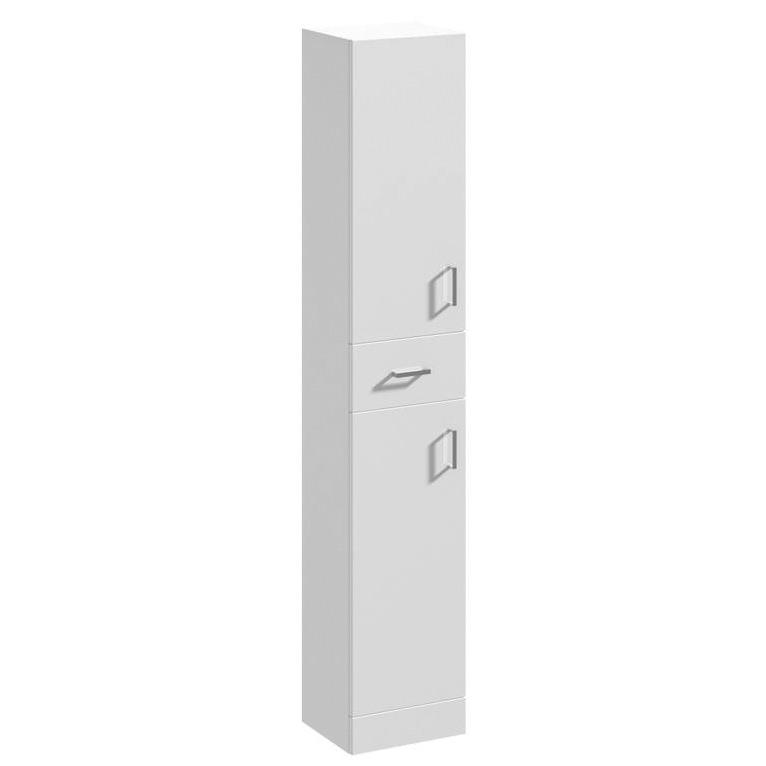 Beo 350 X 300 X 1900mm Tallboy Furniture Unit High Gloss White
