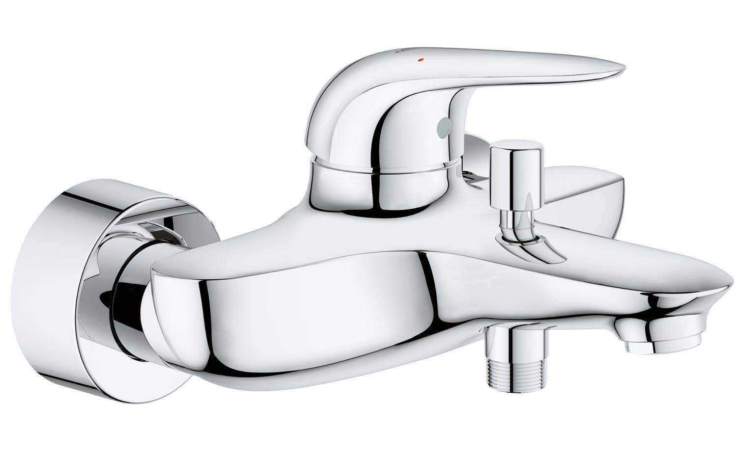 Grohe Eurostyle Wall Mounted Single Lever Bath Shower Mixer Tap ...