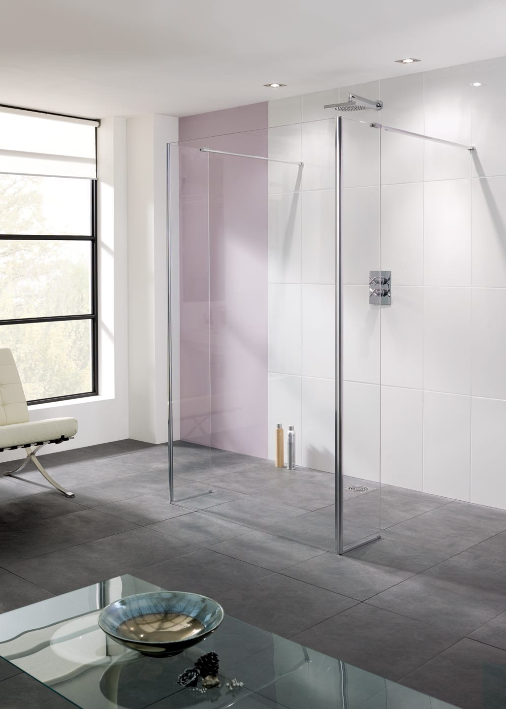Lakes Coastline Riviera 1100mm Walk In Shower Panel And