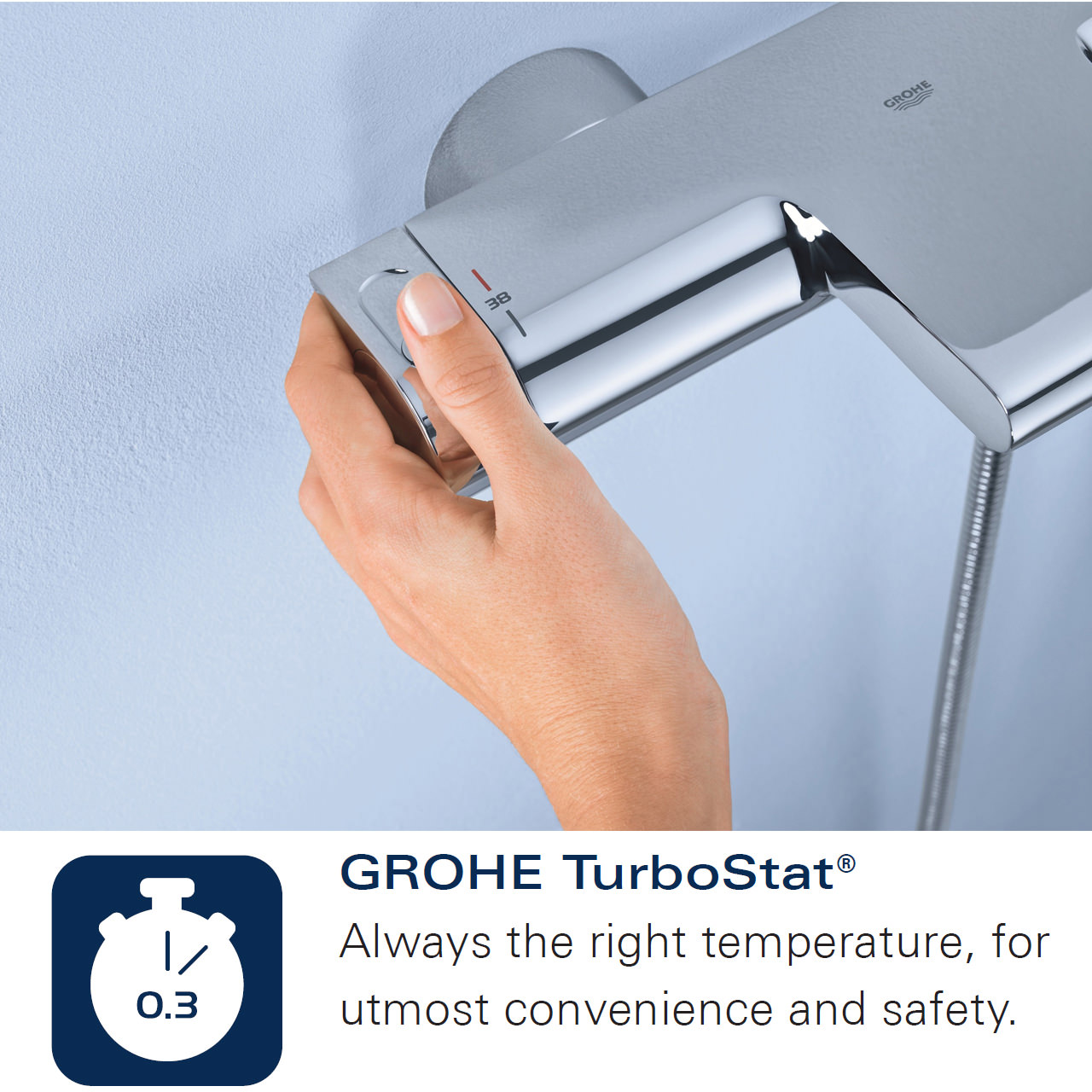 Grohe Grohtherm 1000 Thermostatic Bath Shower Mixer With Shower Set