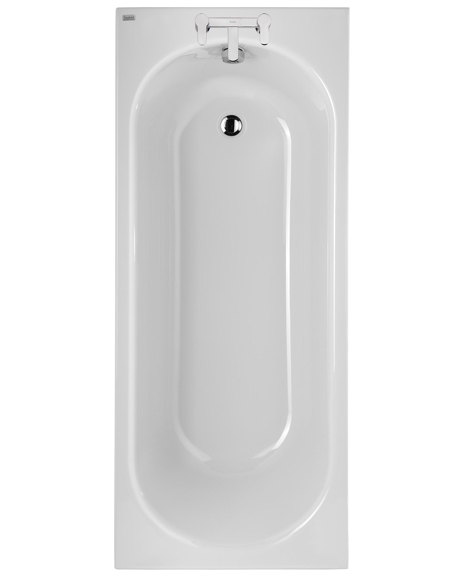 regular baths twyford opal 1700 x 700mm plain 2 tap hole acrylic bath