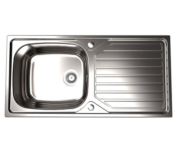 1810 Company Veloreuno 100i Large 1.0 Bowl Kitchen Sink And ...