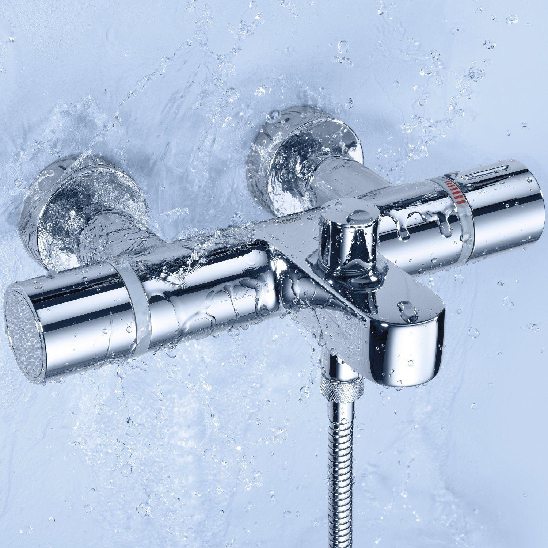 Grohe grohtherm 1000 cosmopolitan thermostatic bath shower for Grohtherm cosmopolitan 1000