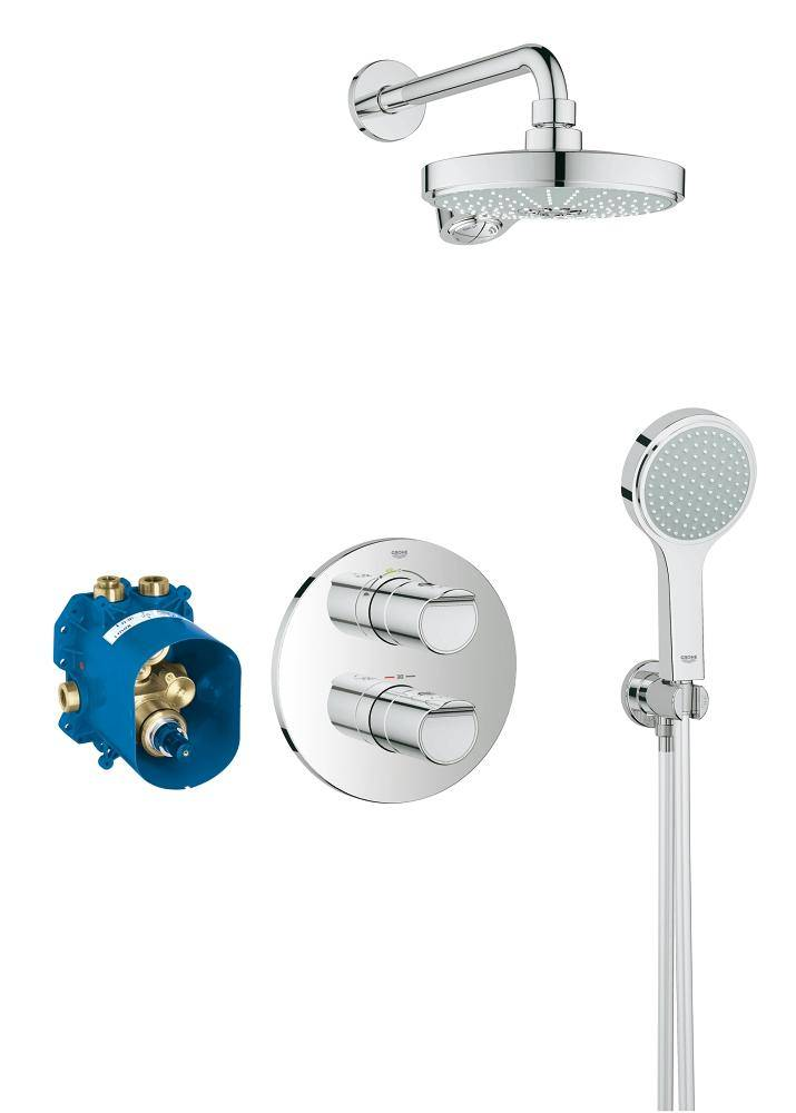 Grohe grohtherm 2000 new chrome concealed thermostatic shower set - Grohe grohtherm 2000 ...