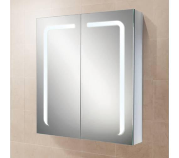 Hib Stratus 60 Led Demisting Aluminium Mirror Cabinet 600