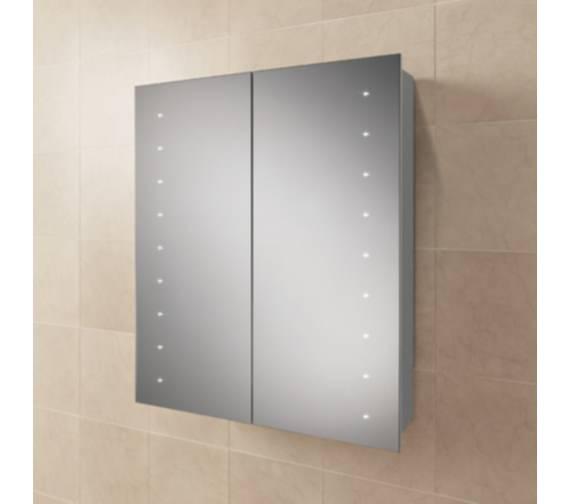 Hib Nimbus 60 Led Demisting Aluminium Mirror Cabinet 600 X