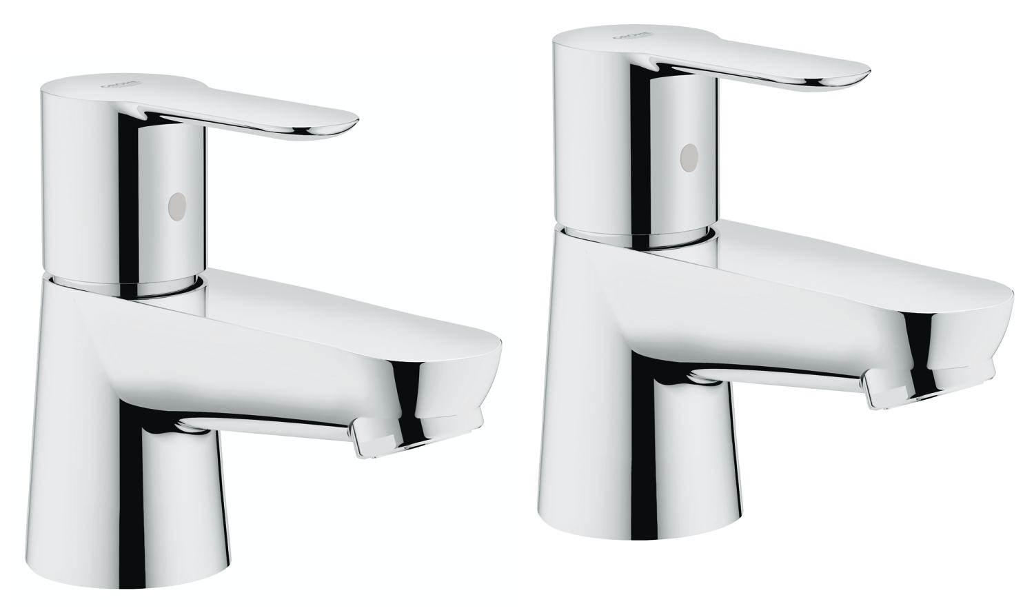 Grohe BauEdge Half Inch Pair Of Basin Taps 2042100M