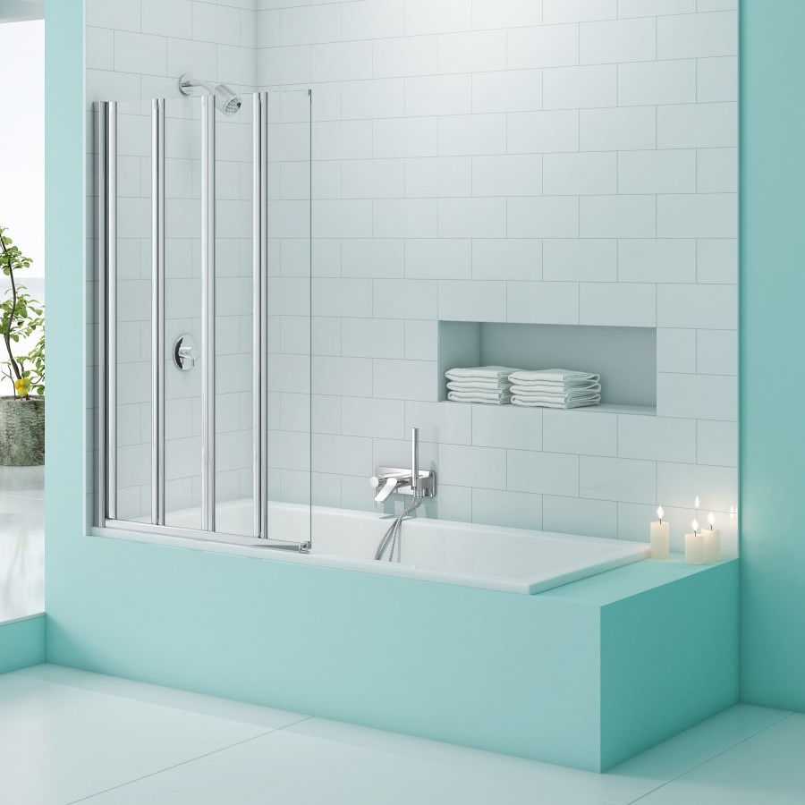 Merlyn Straight and Curved Bath Screens - QS Supplies