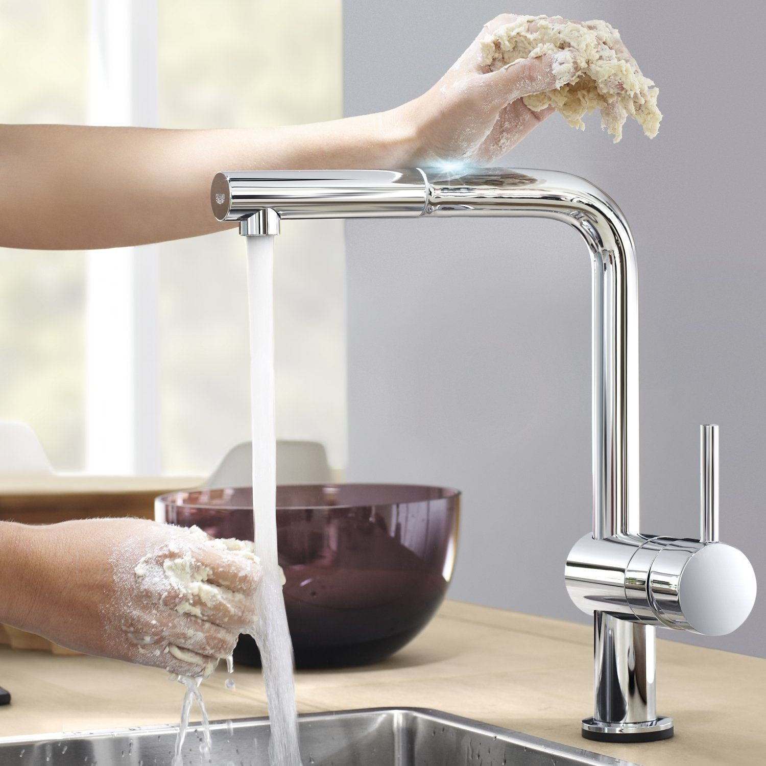 Grohe Minta Electronic Half Inch Single Lever Kitchen Sink
