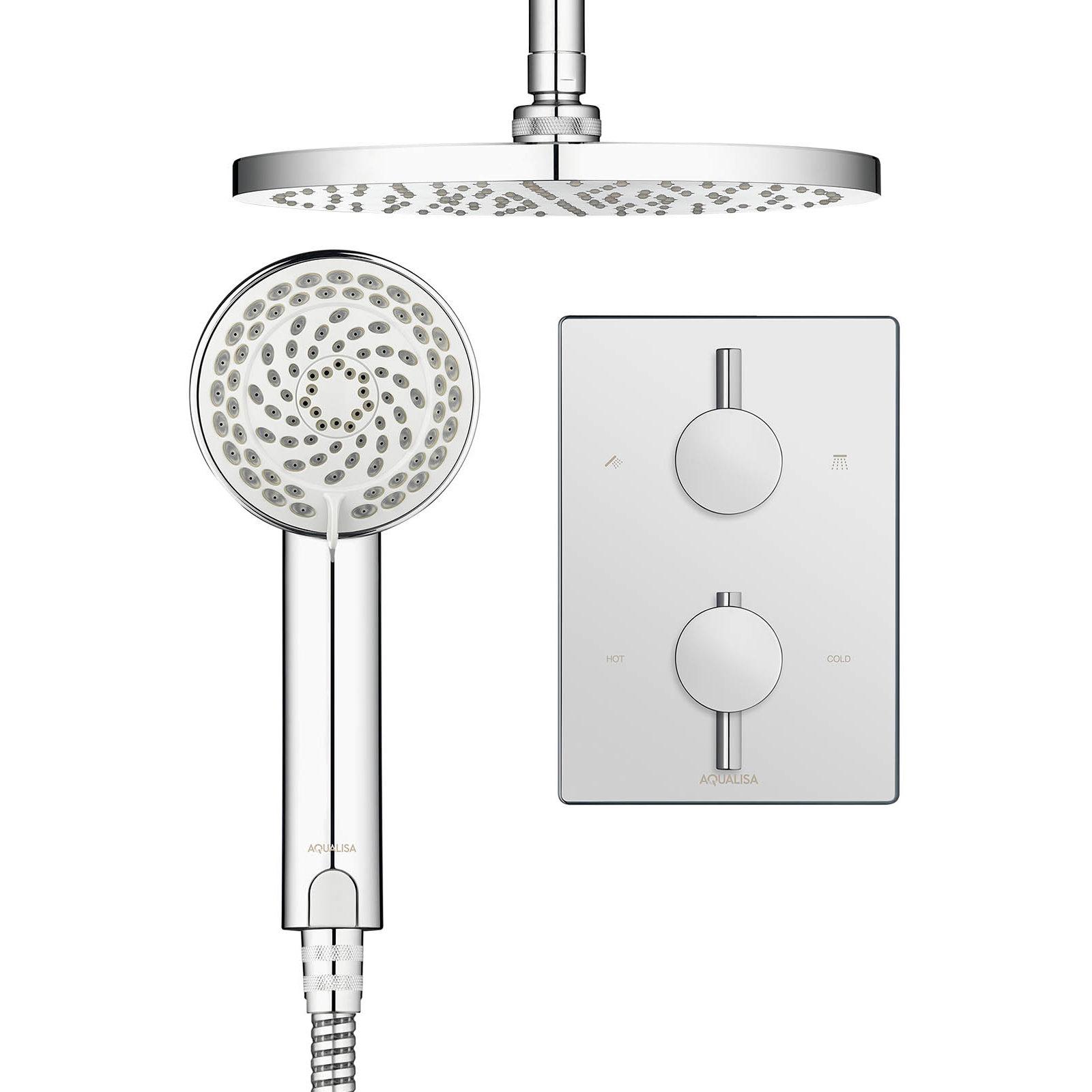 aqualisa dream dcv concealed thermostatic shower slide. Black Bedroom Furniture Sets. Home Design Ideas