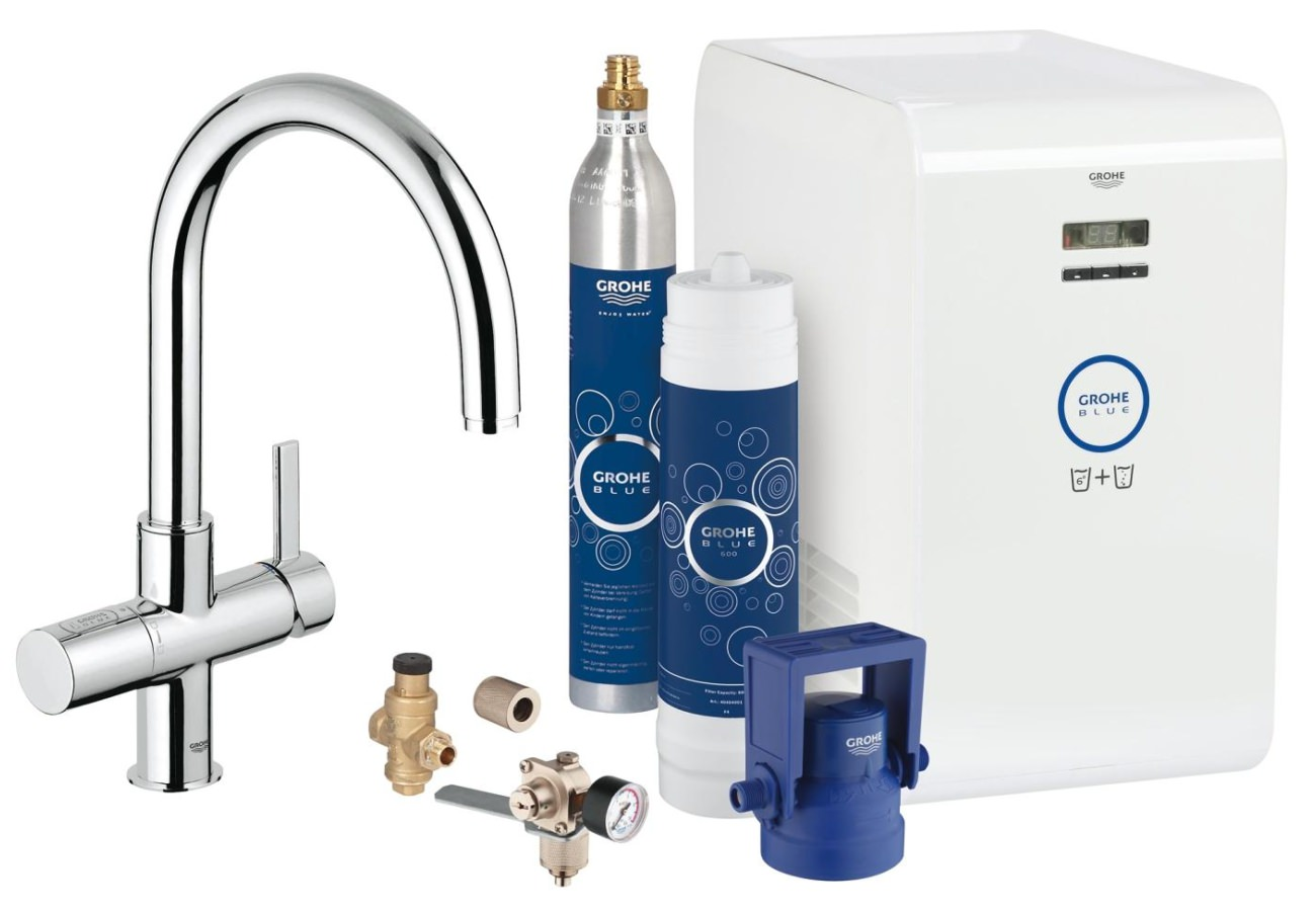 Grohe Blue Professional Kitchen Sink Mixer Tap With Starter Kit - 31323001