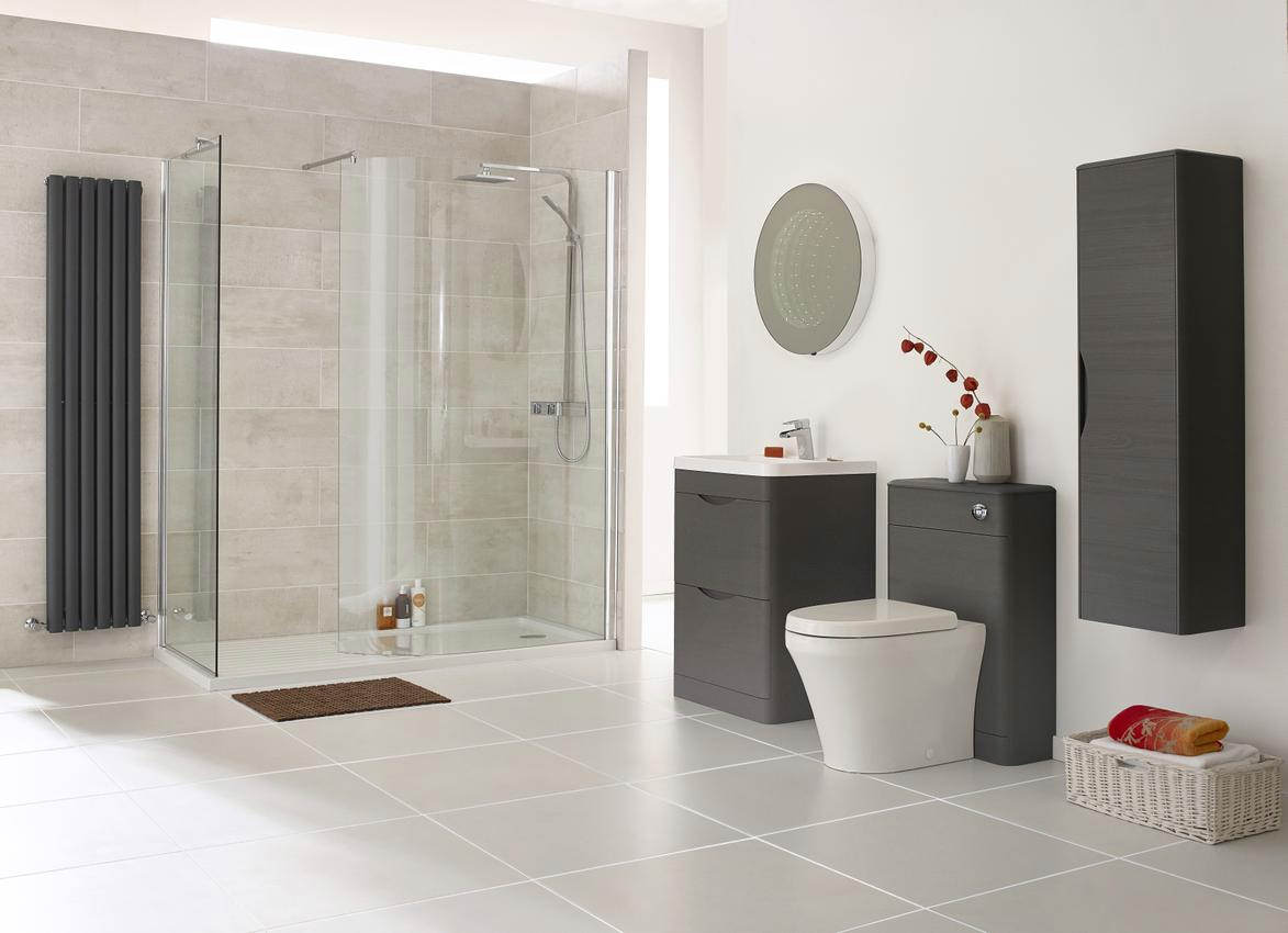 Balterley bathroom furniture -  Additional Image Of Lauren Eclipse 600mm 2 Drawer Floor Standing Cabinet And Basin
