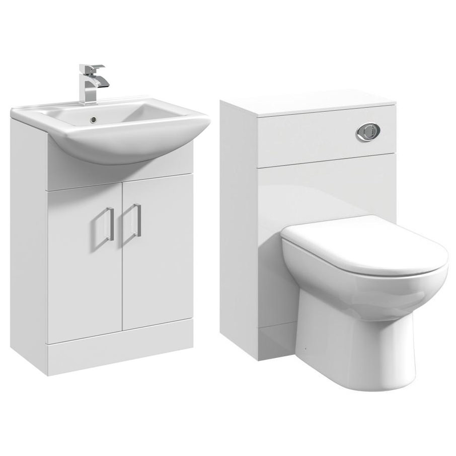 Premier Saturn Cloakroom Furniture Pack With Square Basin