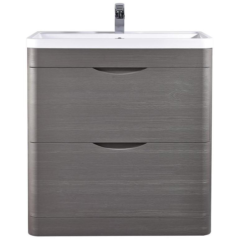 Lauren Eclipse 800mm 2 Drawer Floor Standing Cabinet And Basin Pmw395 Pmb005