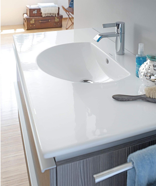 Duravit darling new 830 x 545mm 1 taphole furniture - Duravit bathroom furniture uk ...