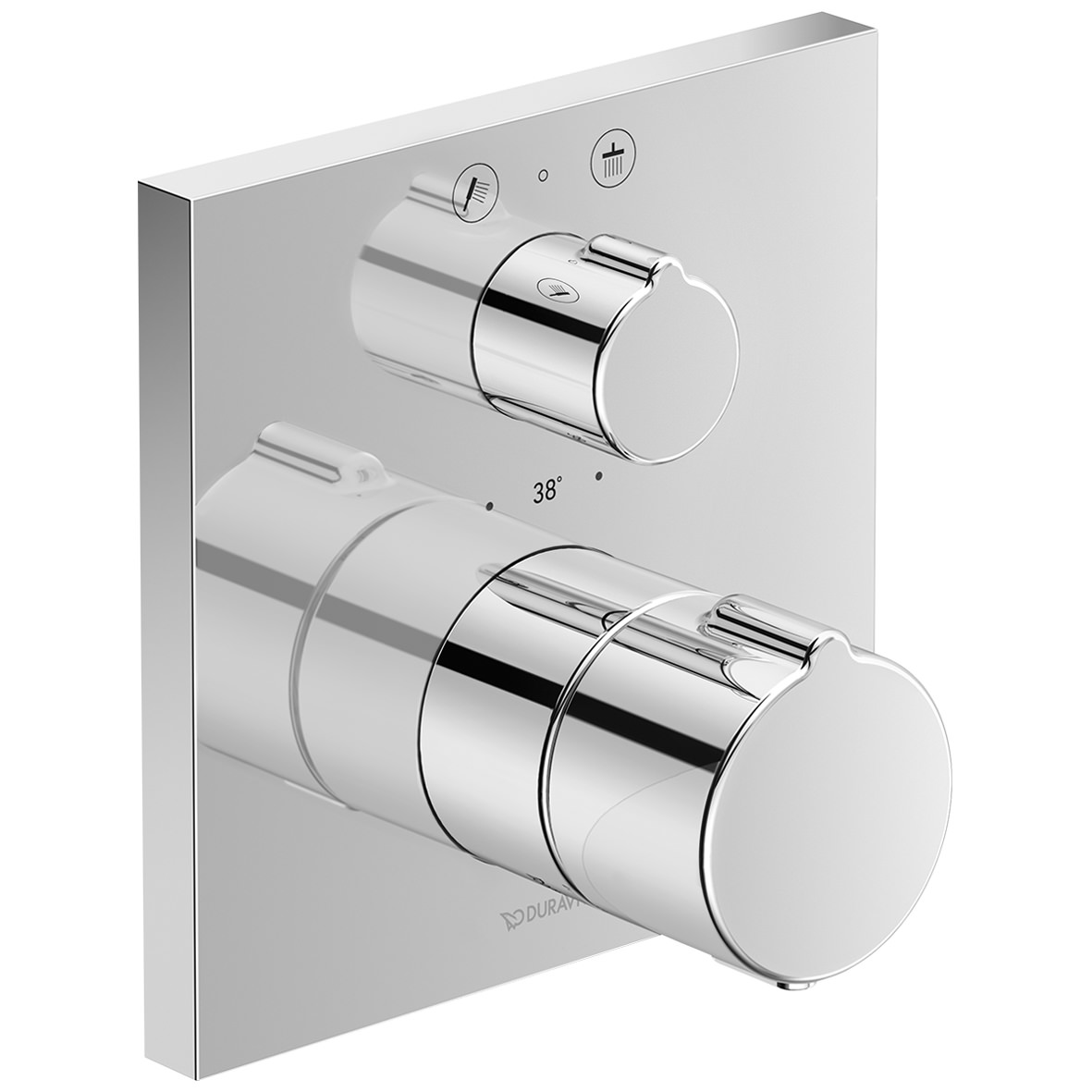 duravit c 1 square thermostatic 2 outlet shower mixer with. Black Bedroom Furniture Sets. Home Design Ideas