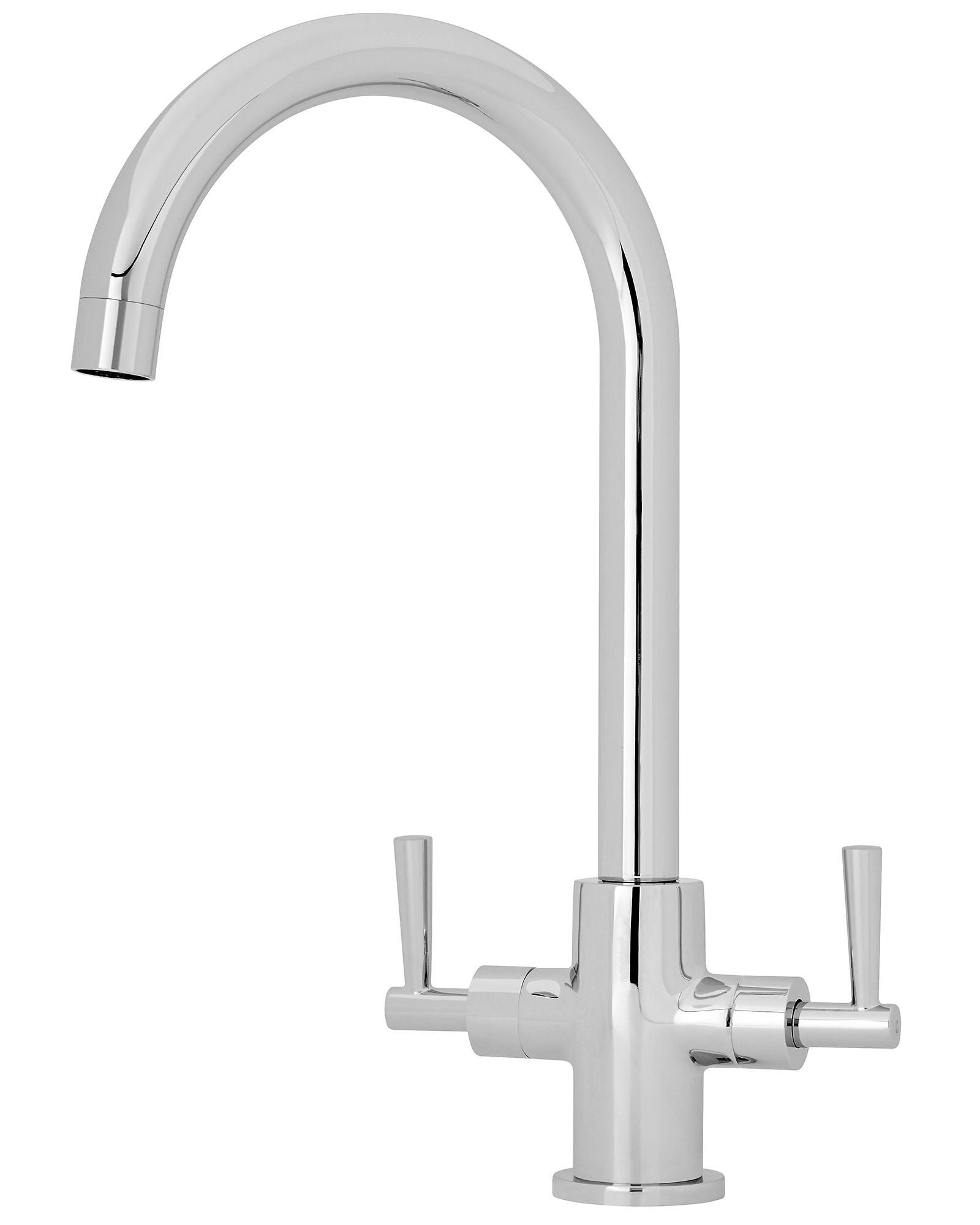 Premier 3675mm High Dual Lever Kitchen Sink Mixer Tap Kb323