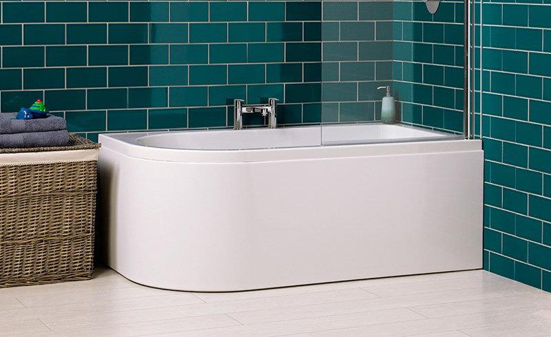 Carron Status 5mm Acrylic Shower Bath 1550 X 850mm Right